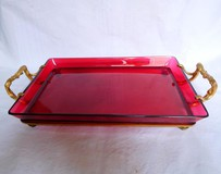 Crystal And Ormolu Bronze Serving Tray