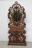 Antique carved halltree