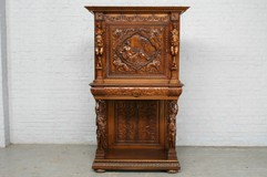 antique carved renaissance cabinet