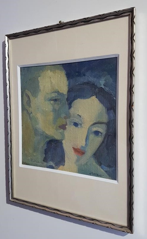 "Antique painting ""Lovers"""