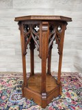Antique pedestal console