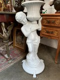 "Antique garden sculpture ""Boy with a Vase"""