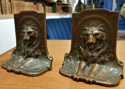 "Antique book stands ""Lions"""