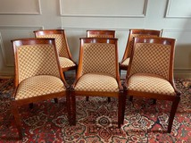 Set of six antique armchairs