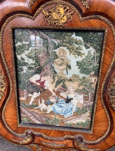 Antique pair tapestries