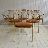 Set of six vintage chairs