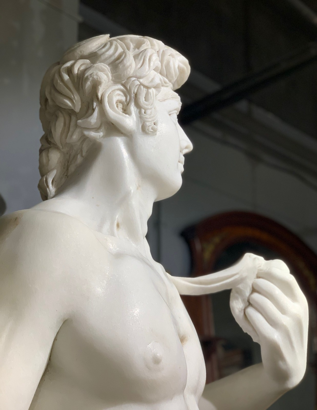 "Antique garden statue ""David"""