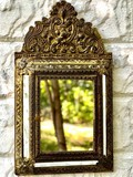 Antique housekeeper with mirror