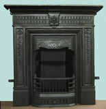 antique british fireplace