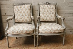 Louis XVI pair armchairs