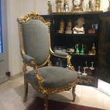Antique chair in the style of Louis XV