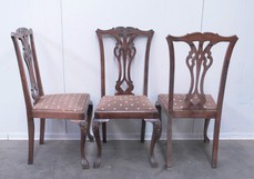 Antique Chippendale 4 chairs set