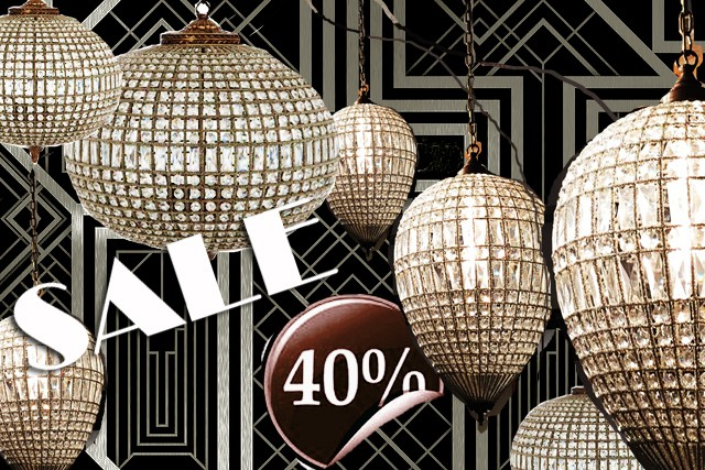 SALES! 40 % off to the vintage lighting!