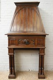 Antique gothic walnut fireplace