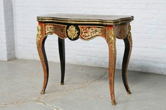 antique boulle marquetry game table