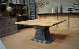 Old cast iron table 1900 Industrial