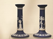 Pair of Wedgwood candlesticks