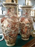 Antique pair porcelain Sastuma urns