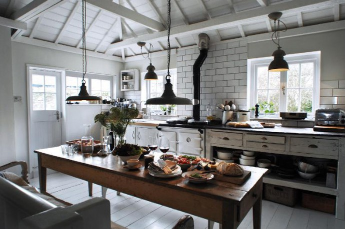 Variants of kitchen in industrial style