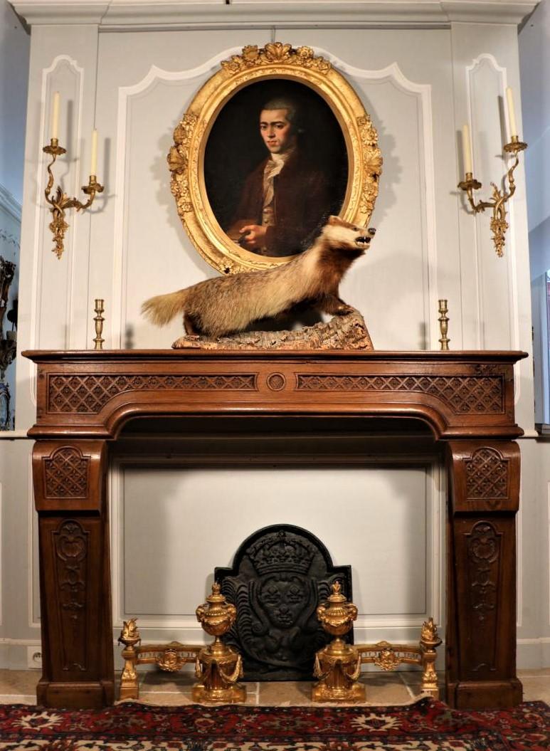 bersoантик antique fireplace louis xiv
